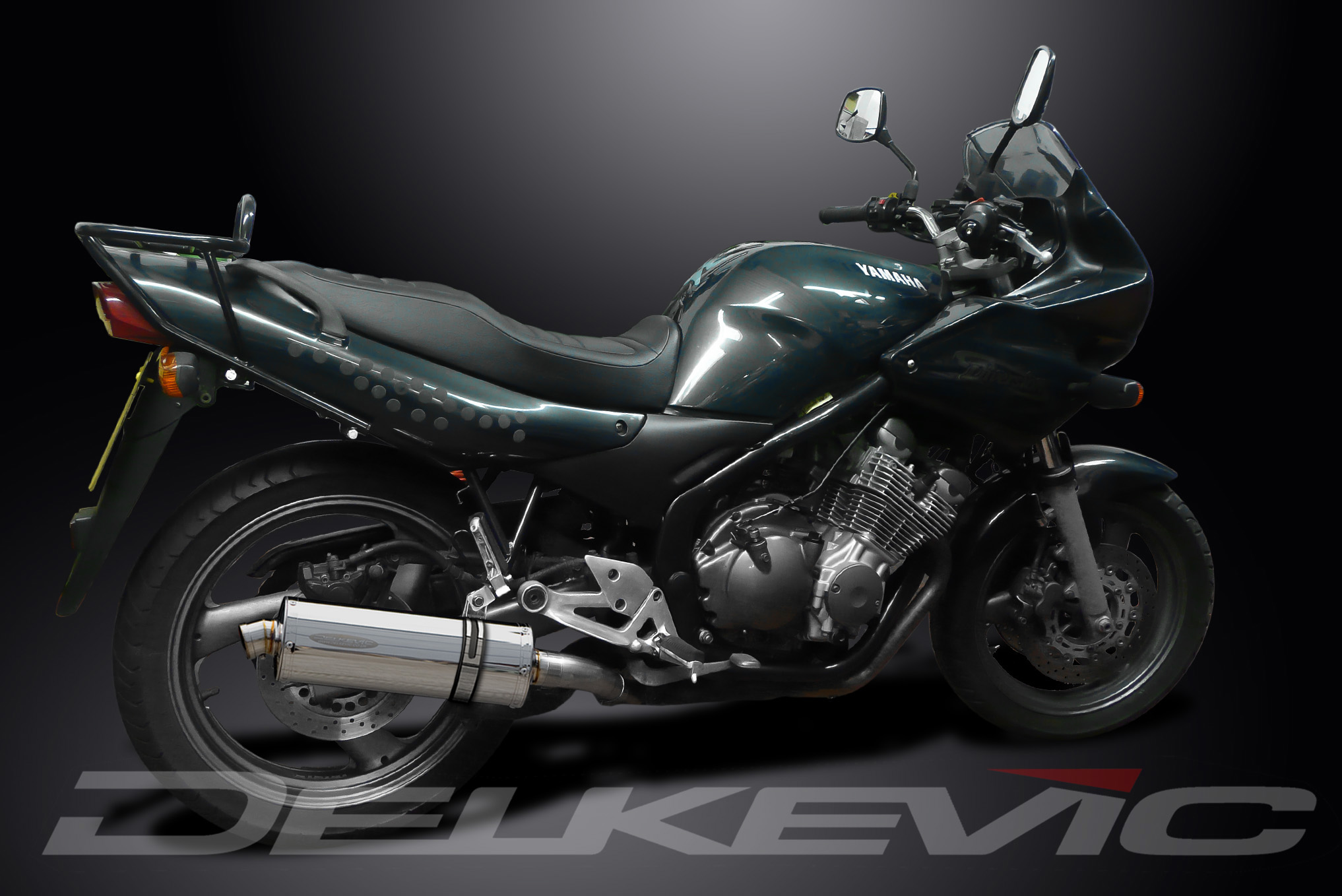 Yamaha xj600 diversion full stainless exhaust system with for Yamaha exhaust systems