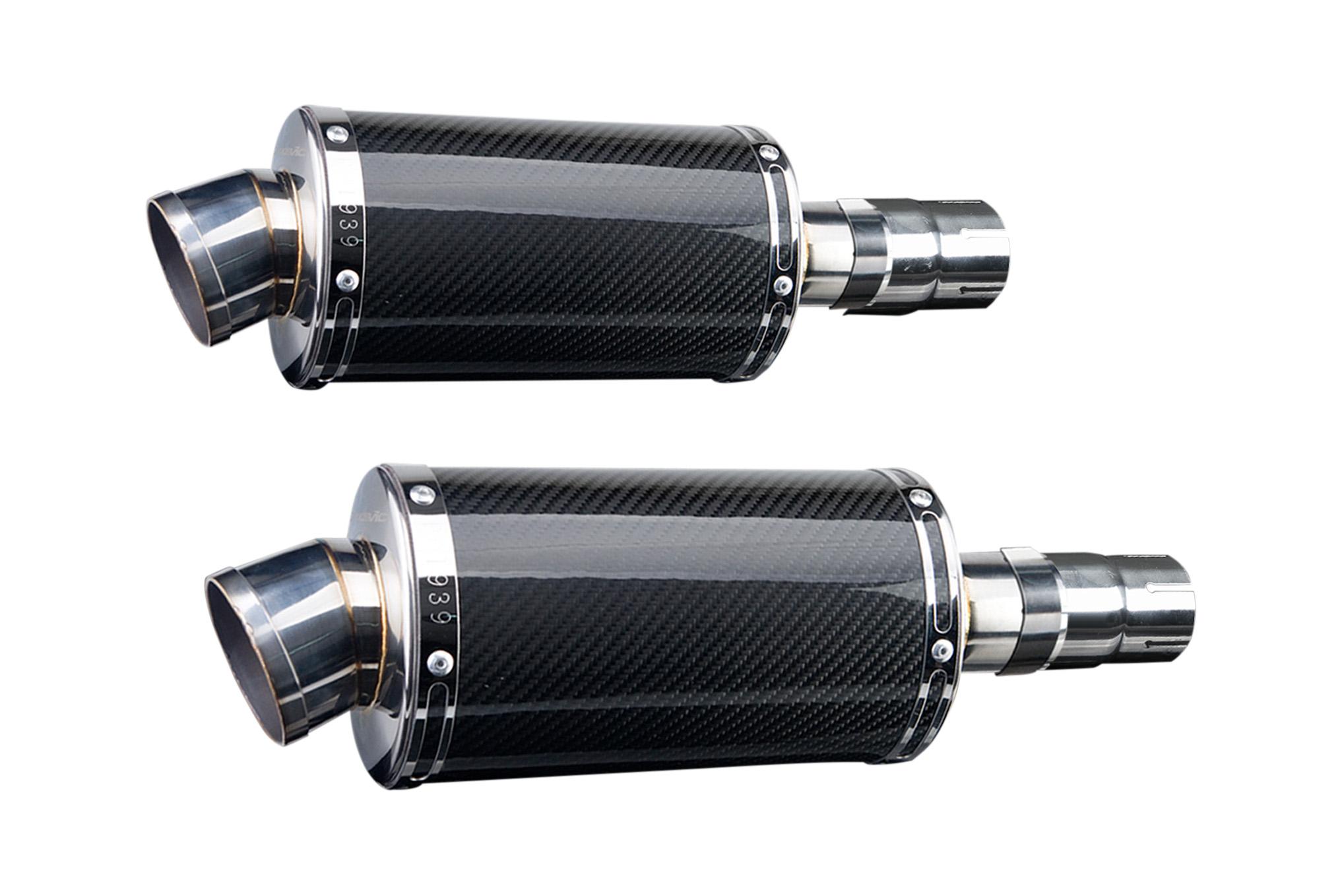 Ds carbon fiber muffler silencer exhaust slip on triumph