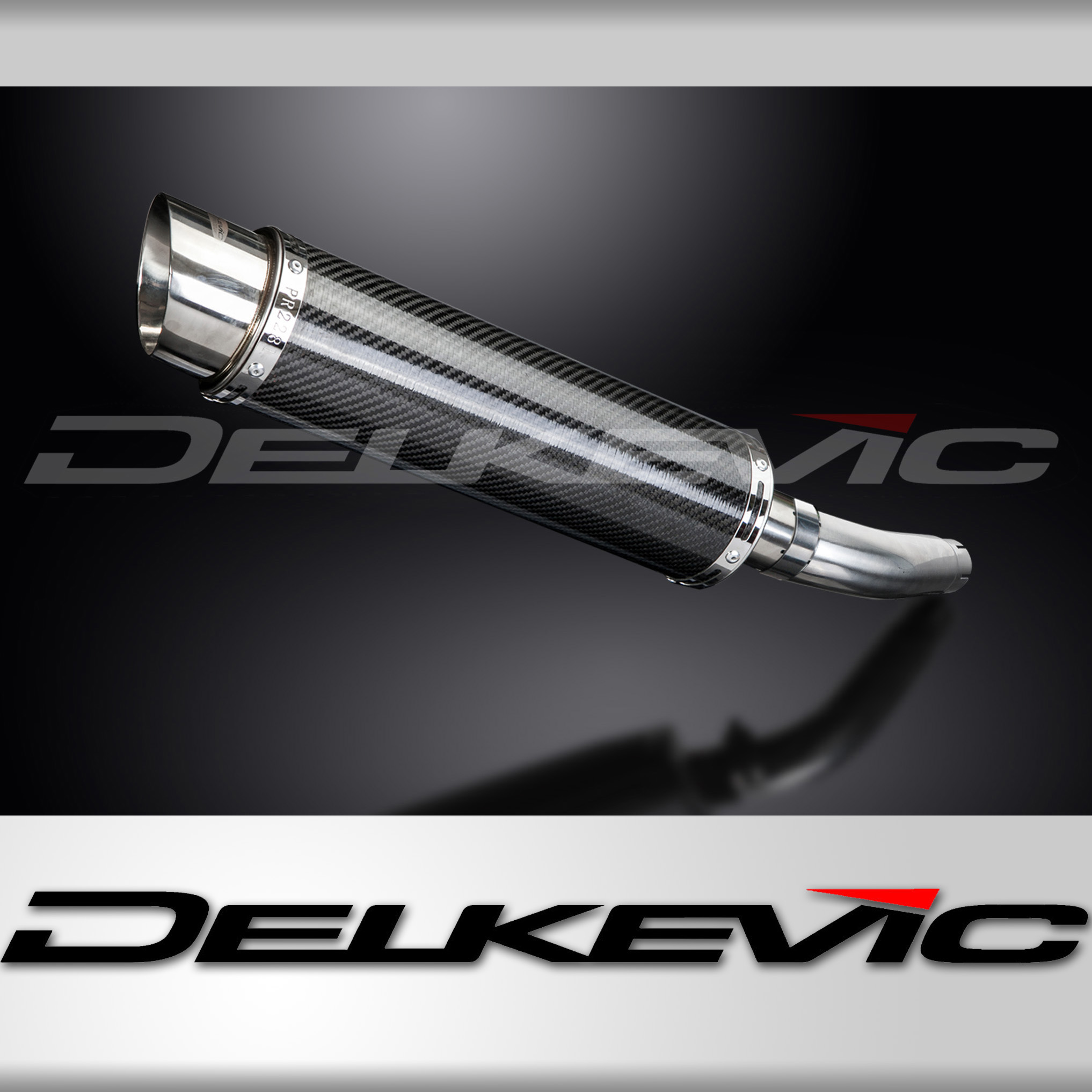 "dl10 14"" carbon exhaust muffler silencer slip-on triumph sprint rs"