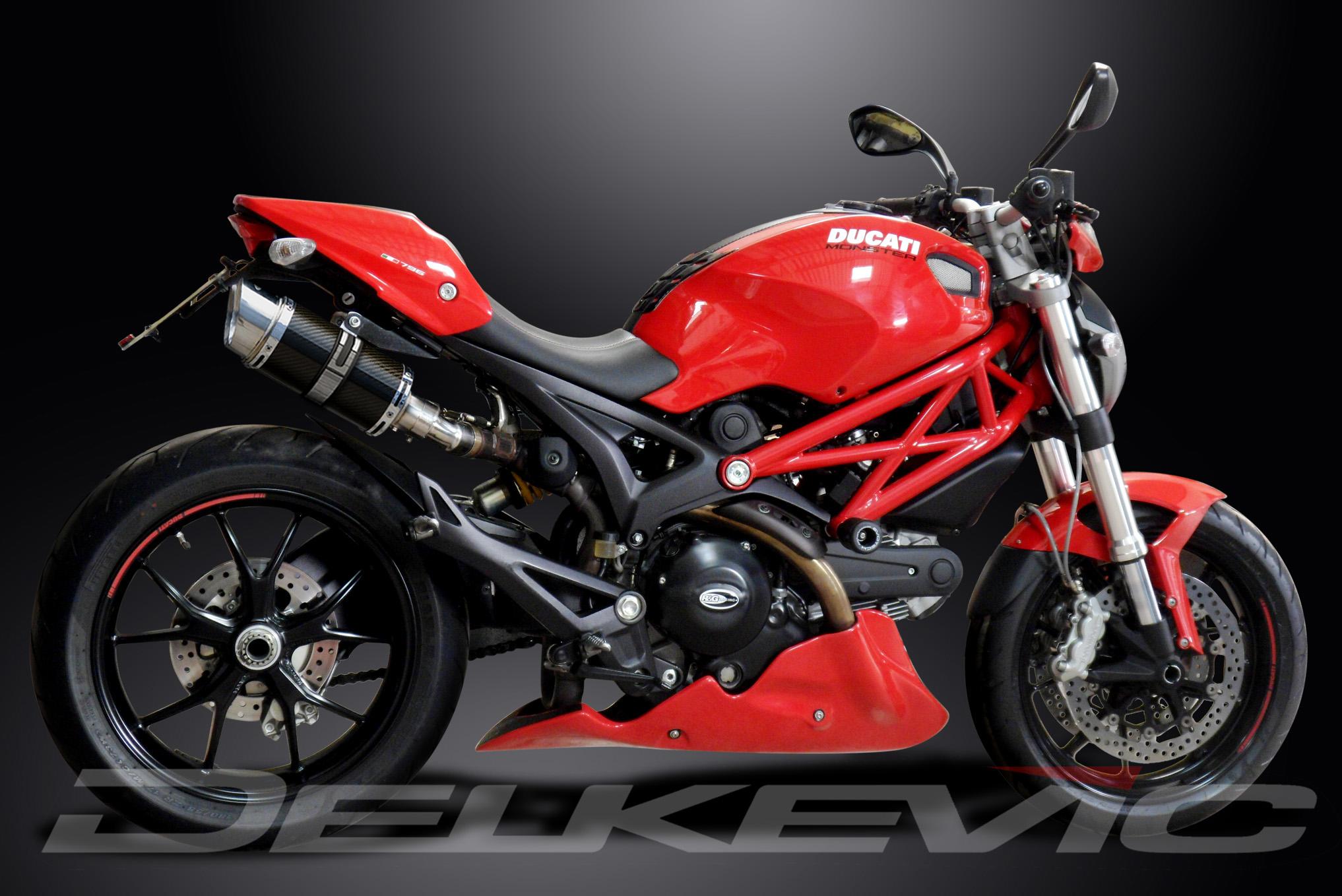 Mini Bike Ducati : Ducati monster quot mini carbon round muffler exhaust