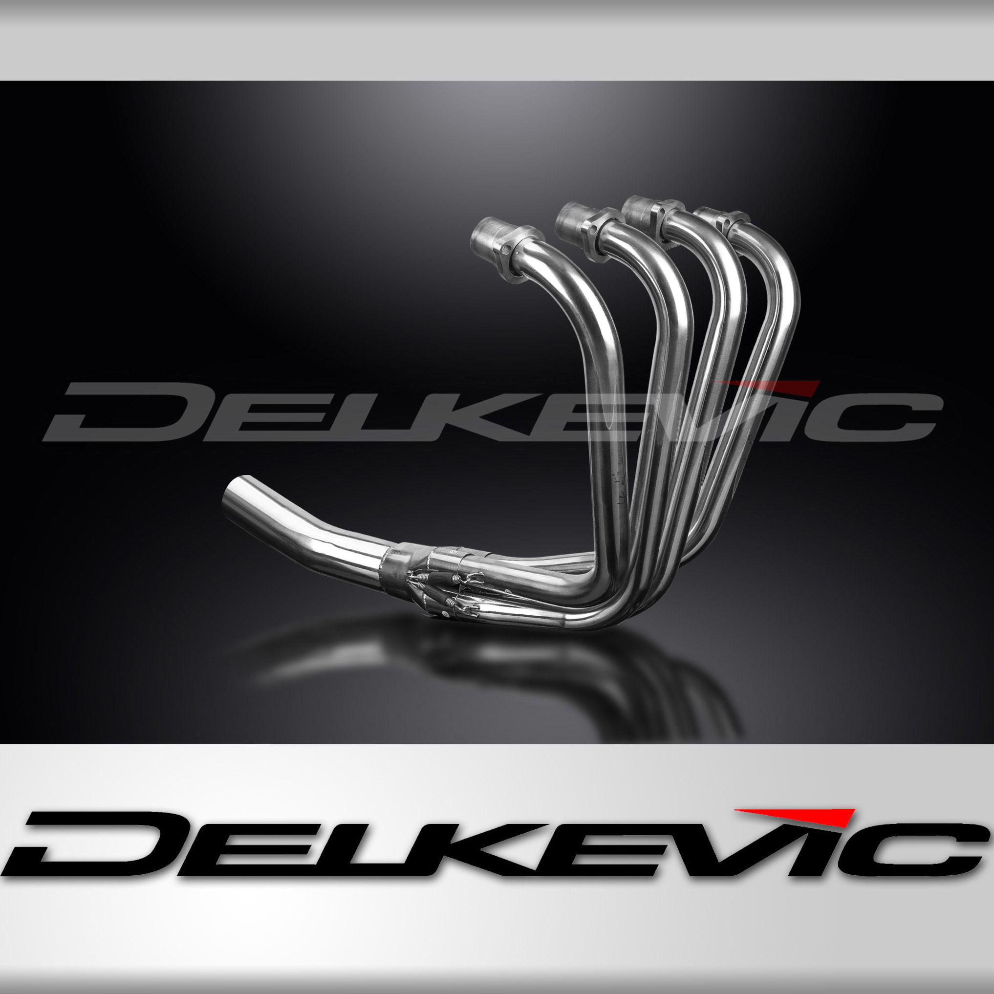 Delkevic 4-1 Exhaust Header Kawasaki Z750E KZ750E 80 81 Stainless Steel