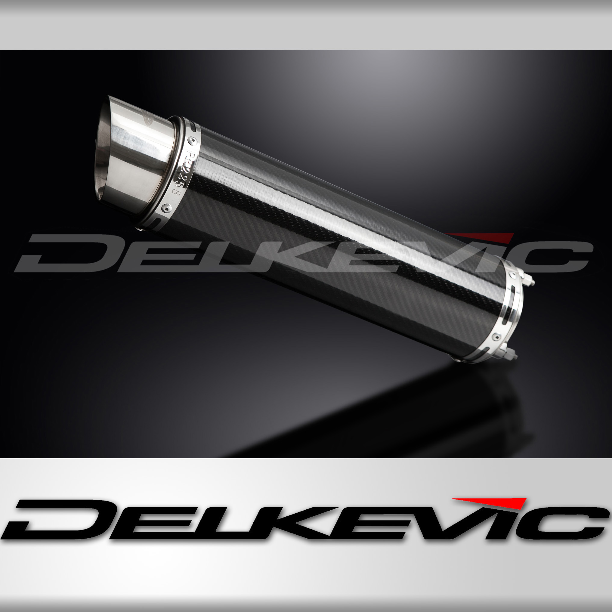 DELKEVIC EXHAUST BOLT-ON SILENCER 350mm CARBON FIBRE HONDA CB400SF NC39 92-98