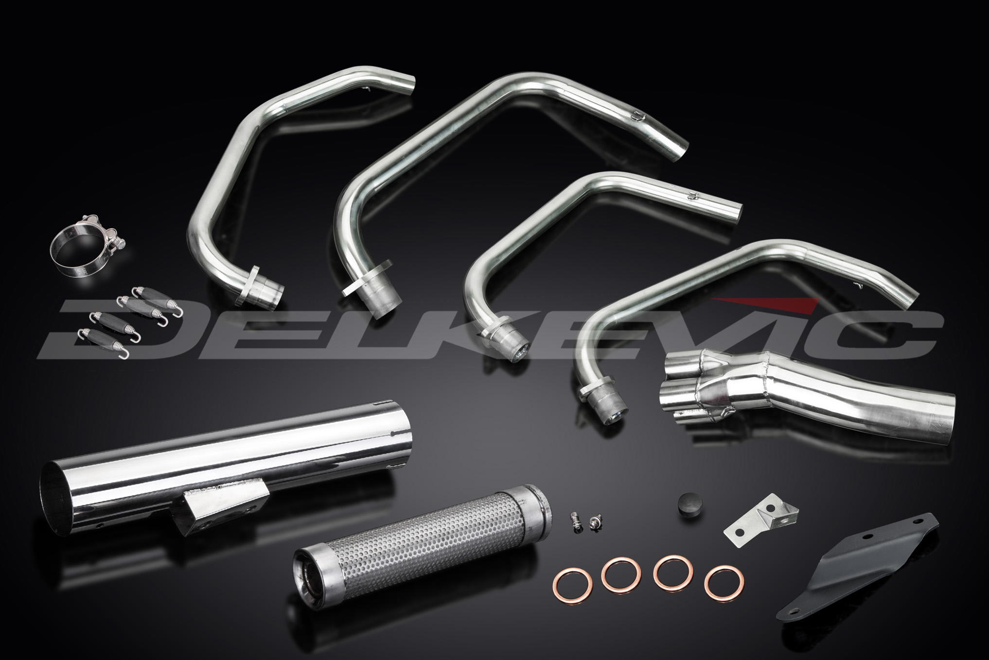 KAWASAKI Z750H-LTD 81-83 Acero 4-1 Escape Downpipes No OEM Compatible